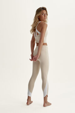 Womensecret Conjunto Sujetador Top y Legging Upala Tapioca/White