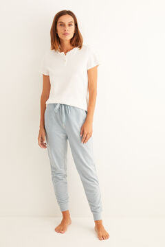Womensecret T-shirt and trousers pyjama in microcorduroy