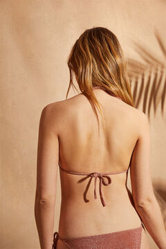 Womensecret Conjunto bikini top halter y braguita anudada
