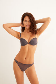 Womensecret Plumeti set with grey lace details