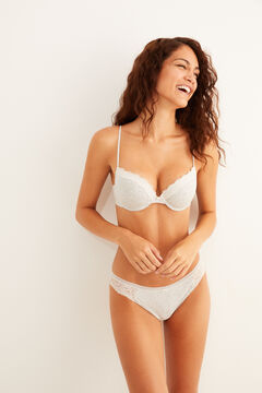 Womensecret Grey organic cotton and lace set