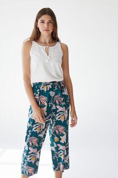 Womensecret Ensemble de t-shirt bretelles et pantalon long