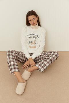 Womensecret Conjunto de camiseta longa e calças