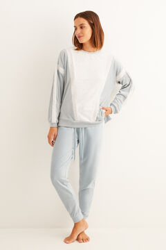 Womensecret Set of sweatshirt and micro corduroy trousers