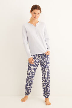 Womensecret Navy blue print pyjama set