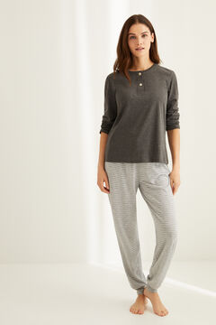 Womensecret Pyjama set with Henley t-shirt and jogger bottoms
