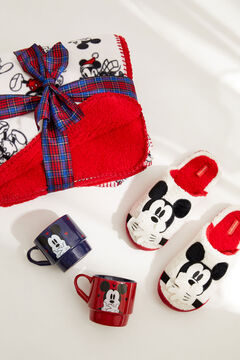 Womensecret Pack of mugs, faux shearling blanket and slippers featuring Mickey Mouse