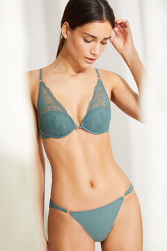 Womensecret Green halter bra and classic panties set