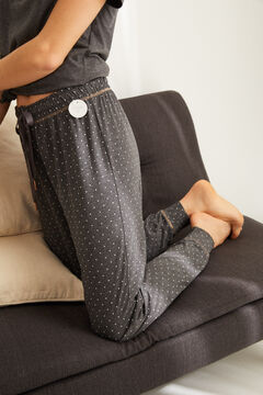 Womensecret Pyjama set with short-sleeved t-shirt and jogger bottoms