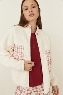 Womensecret Conjunto de casaco, camisola curta e calças compridas