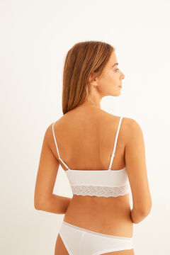 Womensecret Lace and white organic cotton set