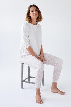 Womensecret Conjunto de t-shirt comprida e calças compridas