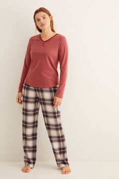 Womensecret Grey checked pyjama set