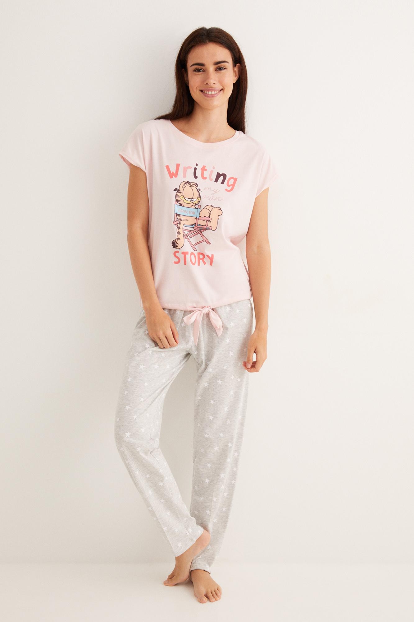 Pijama largo Garfield   Pijamas largos   Women'secret