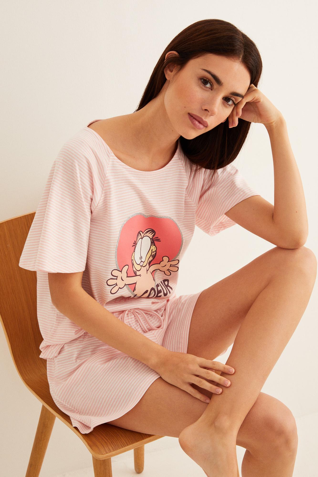 Pijama corto Garfield   Pijamas cortos   Women'secret