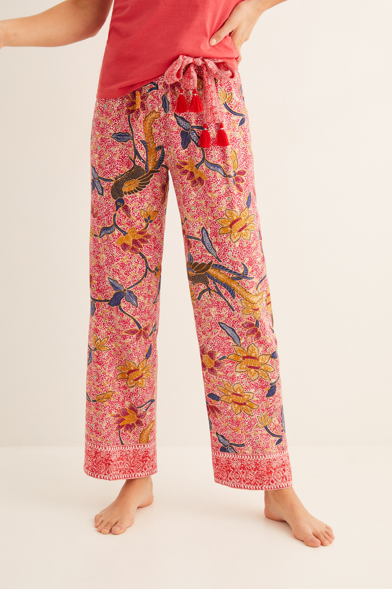 Pantalón largo estampado | Pantalones | Women'secret