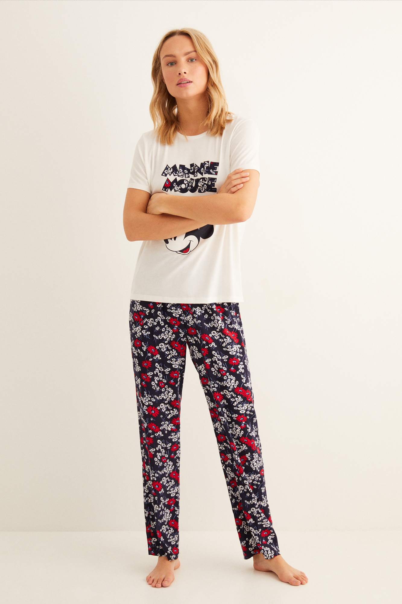 Pijama largo Minnie flores | Pijamas largos | Women'secret