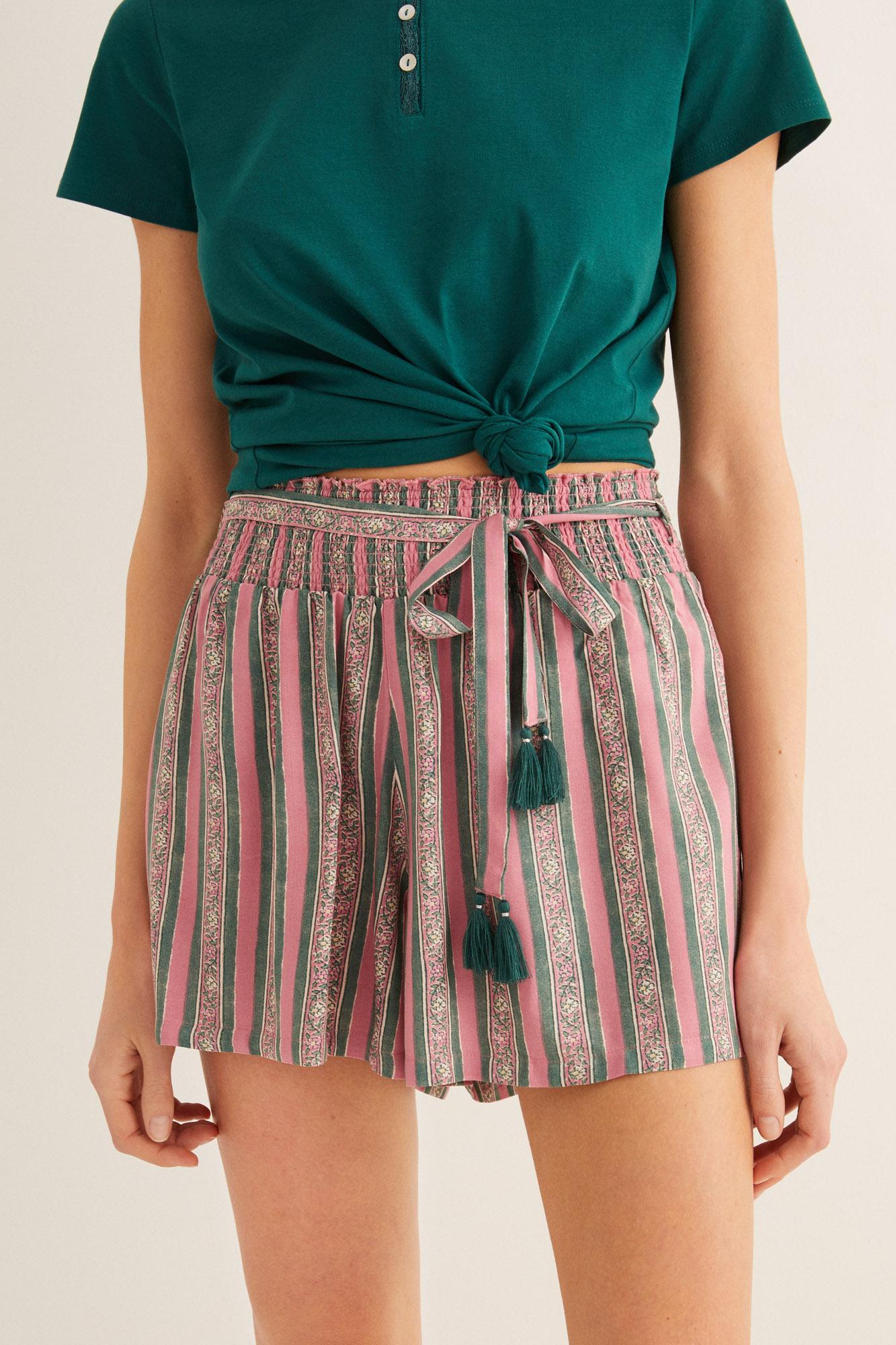 Pantalón corto estampado   Pantalones   Women'secret