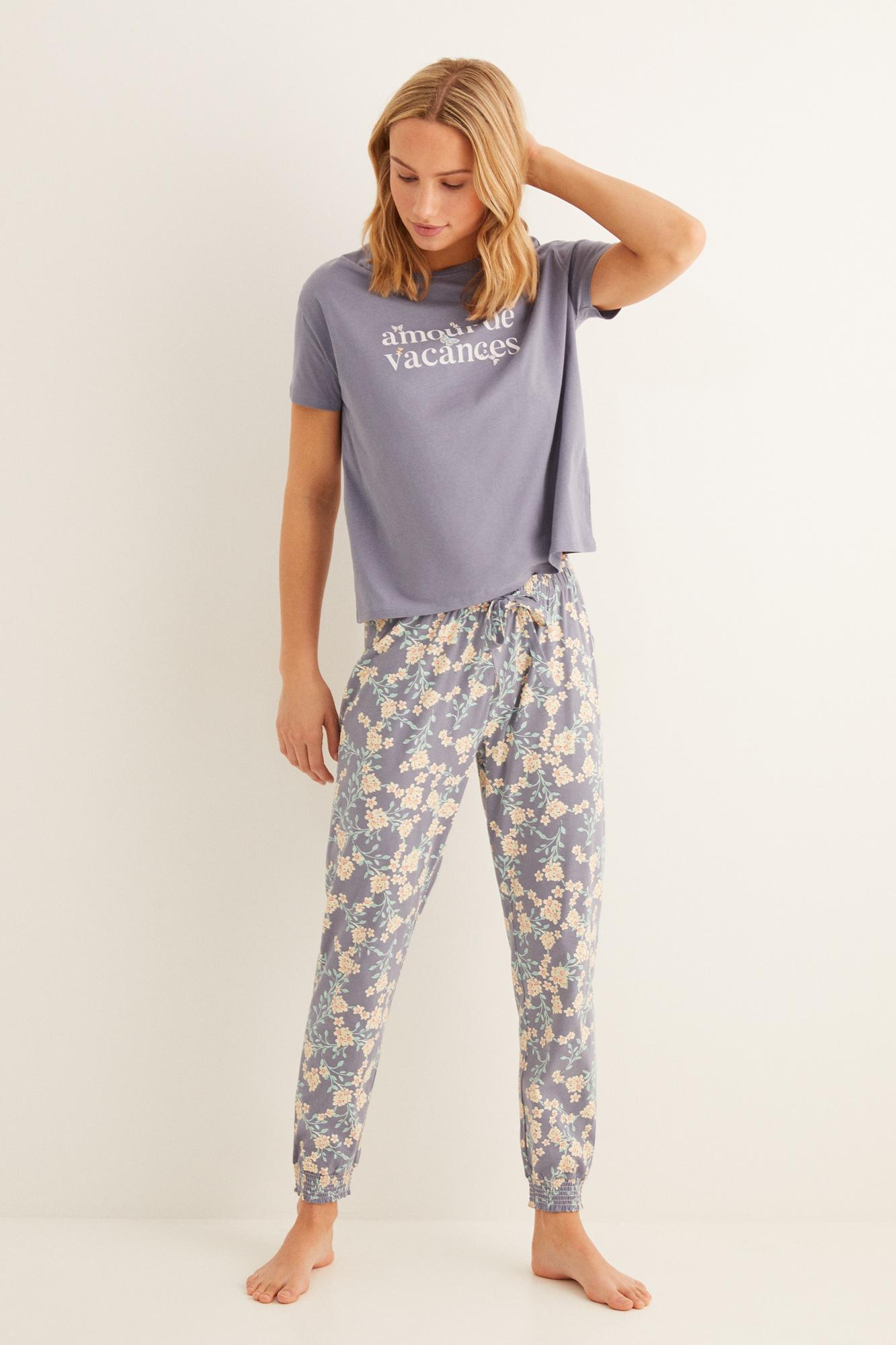 Pijama largo algodón   Pijamas largos   Women'secret