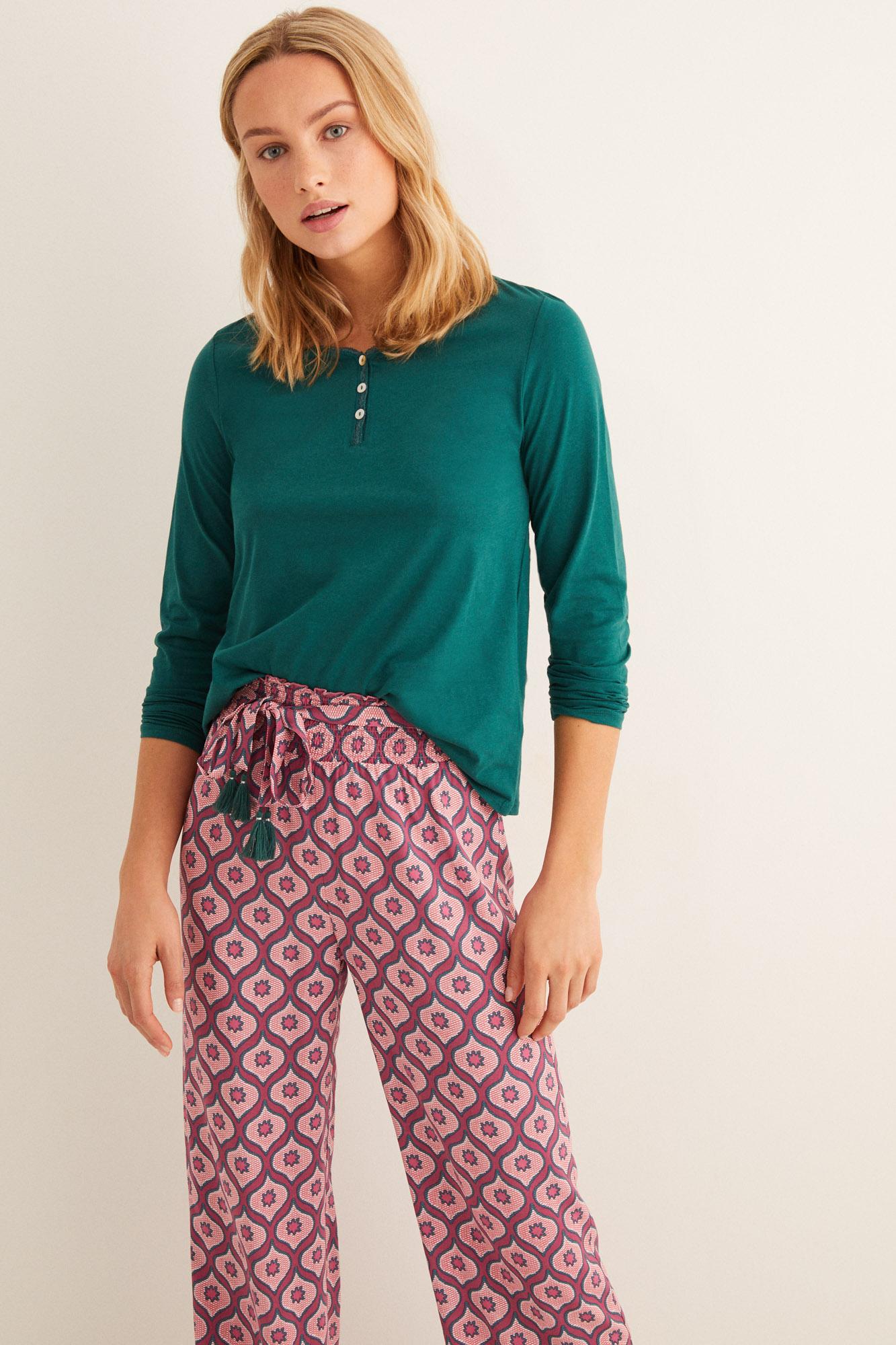Camiseta lisa manga larga | Camisetas | Women'secret