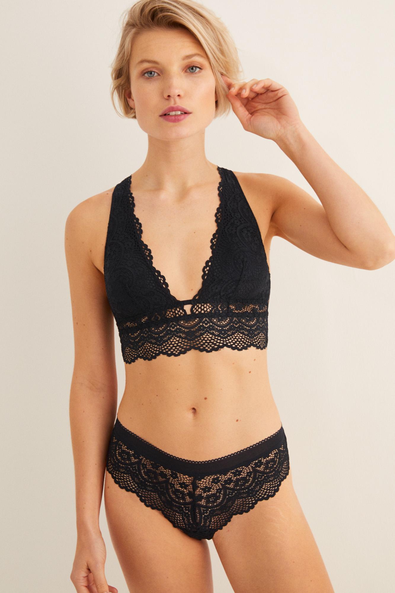 Bralette encaje abertura espalda | Triangular | Women'secret