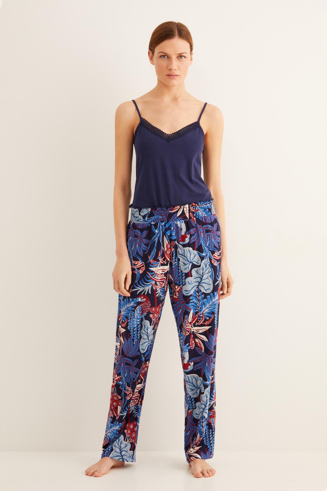 Pantalón pijama largo estampado   Pantalones   Women'secret