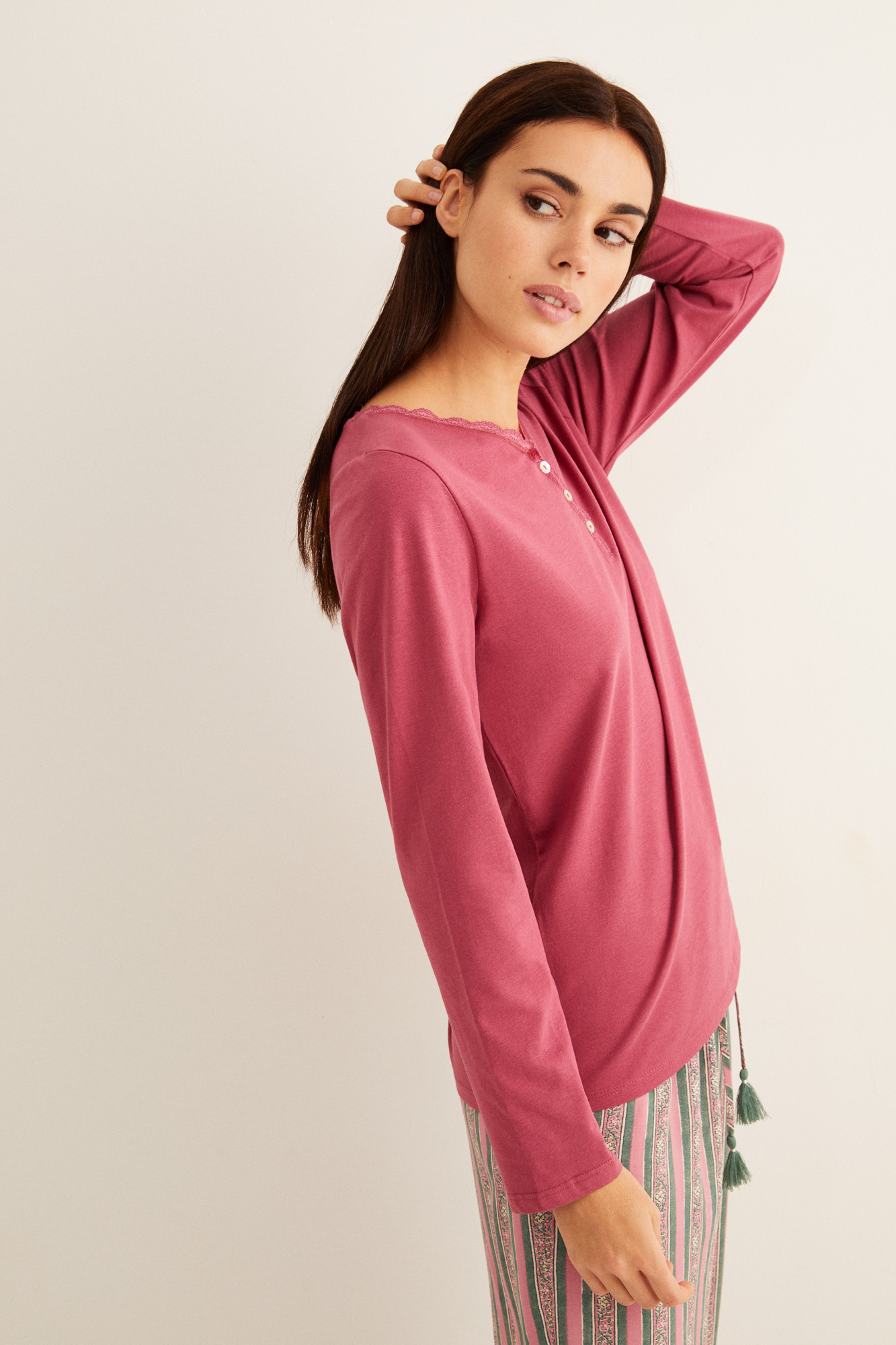 Camiseta lisa manga larga   Camisetas   Women'secret