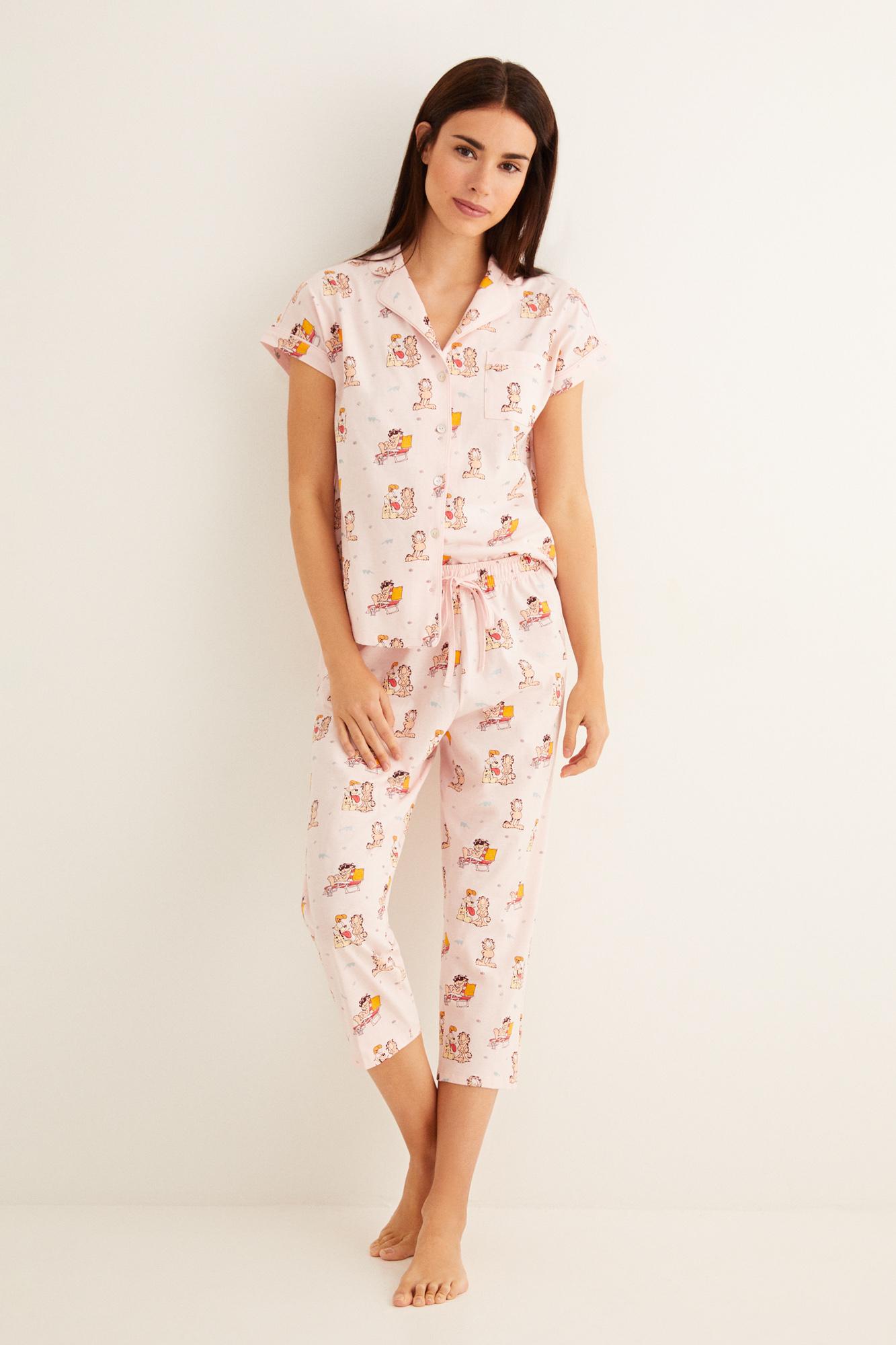 Pijama camisero Garfield   Pijamas largos   Women'secret