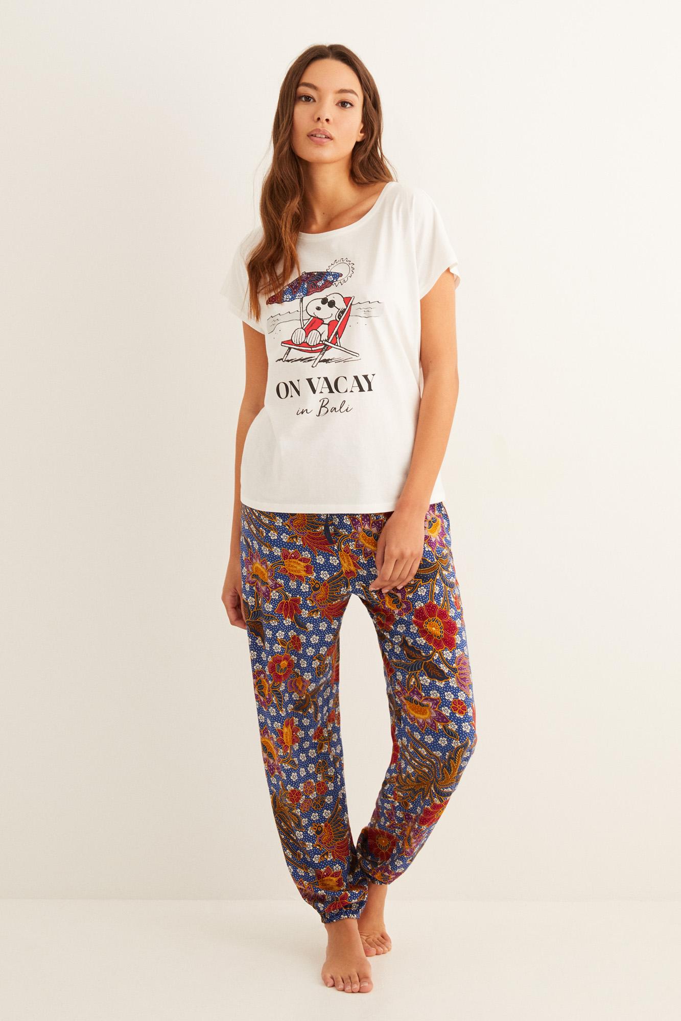 Pantalón largo estampado   Pantalones   Women'secret