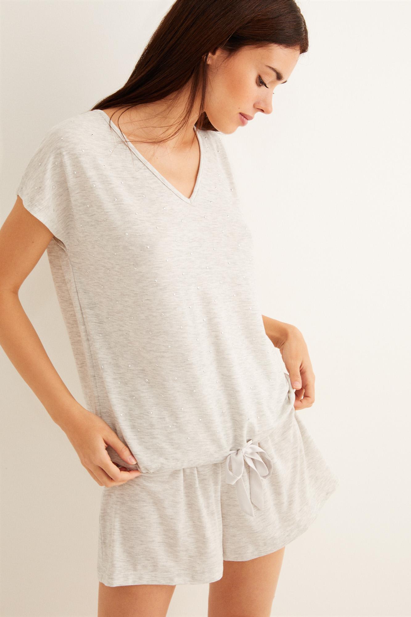 Pijama corto 'strass'   Pijamas cortos   Women'secret