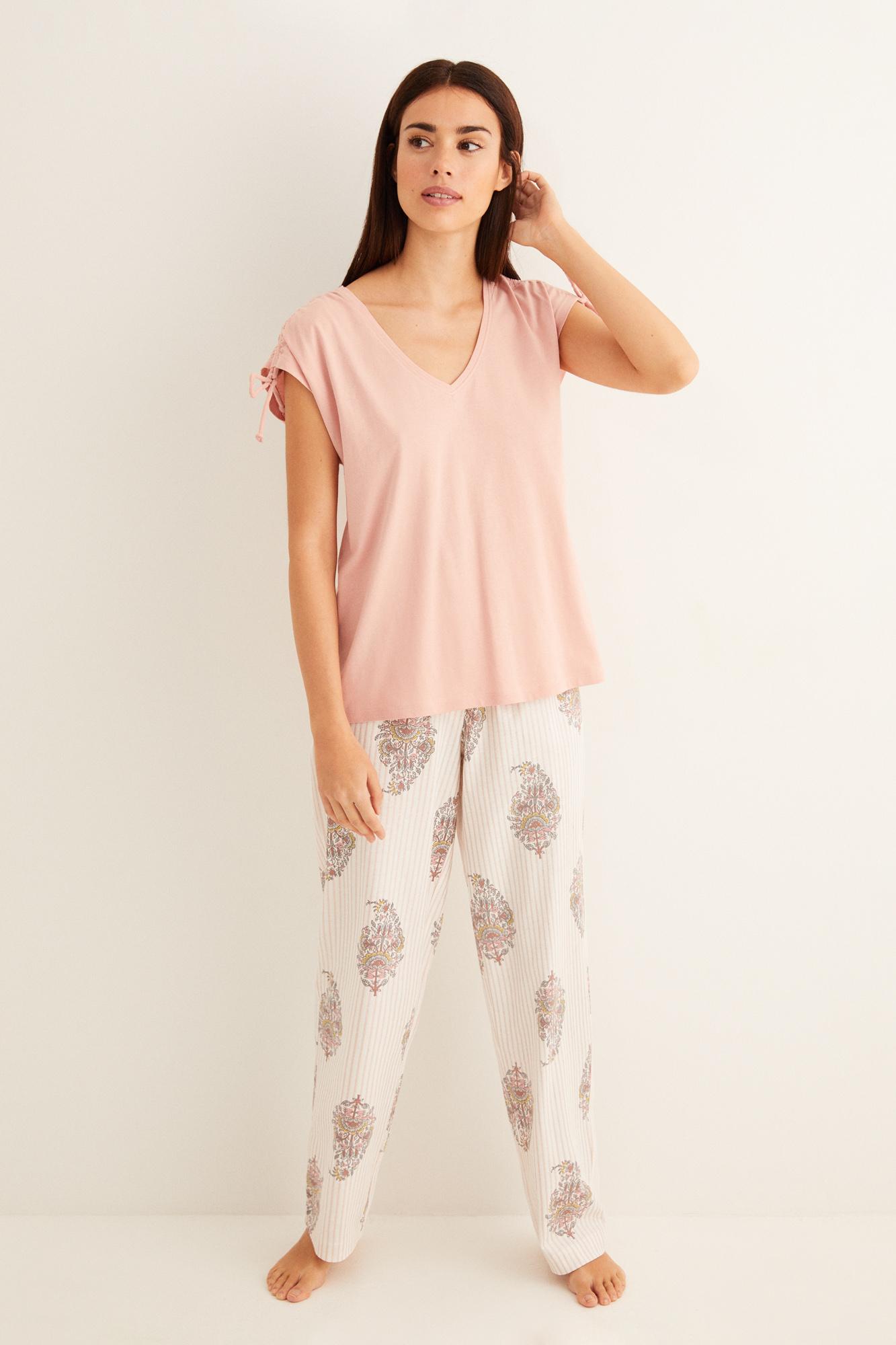 Pijama largo estampado | Pijamas largos | Women'secret